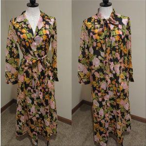 Vintage Miss Dior 70's floral print shirt dress